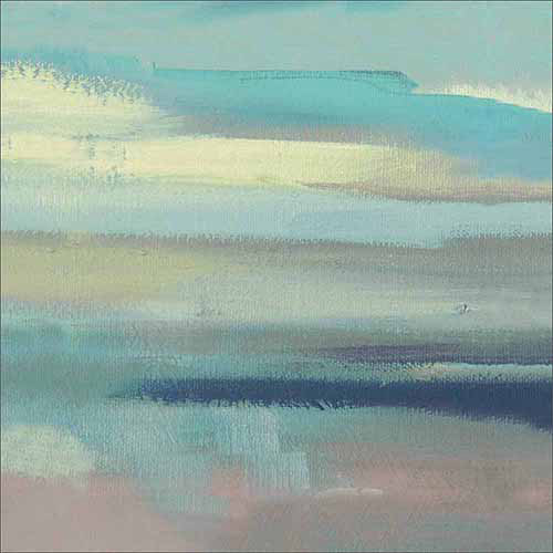 Abstract Seascape Lines Textured Coastal Painting Blue & Grey Canvas Art by Pied Piper Creative