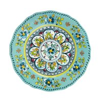 """Madrid Salad Plate, 9"""", Turquoise, Made from Melamine By Le Cadeaux"""