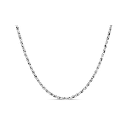 Sterling Silver Rope 050 Gauge Chain Necklace 30 Inches