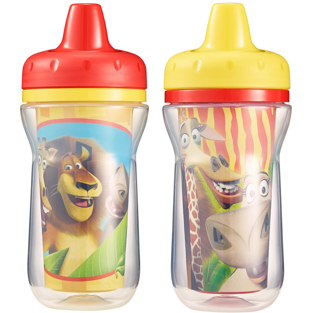 The First Years Madagascar Insulated Sippy Cup, 9oz, 2pk
