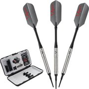 Viper V-Factor Tungsten 18-Gram Soft Tip Darts, Shark Fin Barrel, Gray