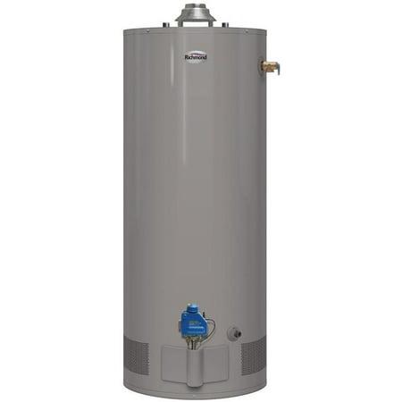 Richmond 6G40S-34F3 Short Gas Water Heater, Natural Gas, 40 gal Tank,