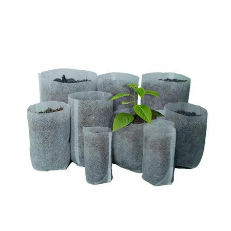 Non Corrosive Planter - 100PCS Degradable Non-woven Nursery Bags Seedling-raising Pots Gardening Supplies