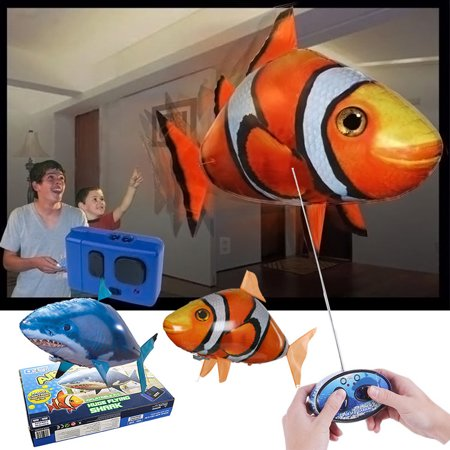 Shark videos kamisco for Remote control air swimming fish