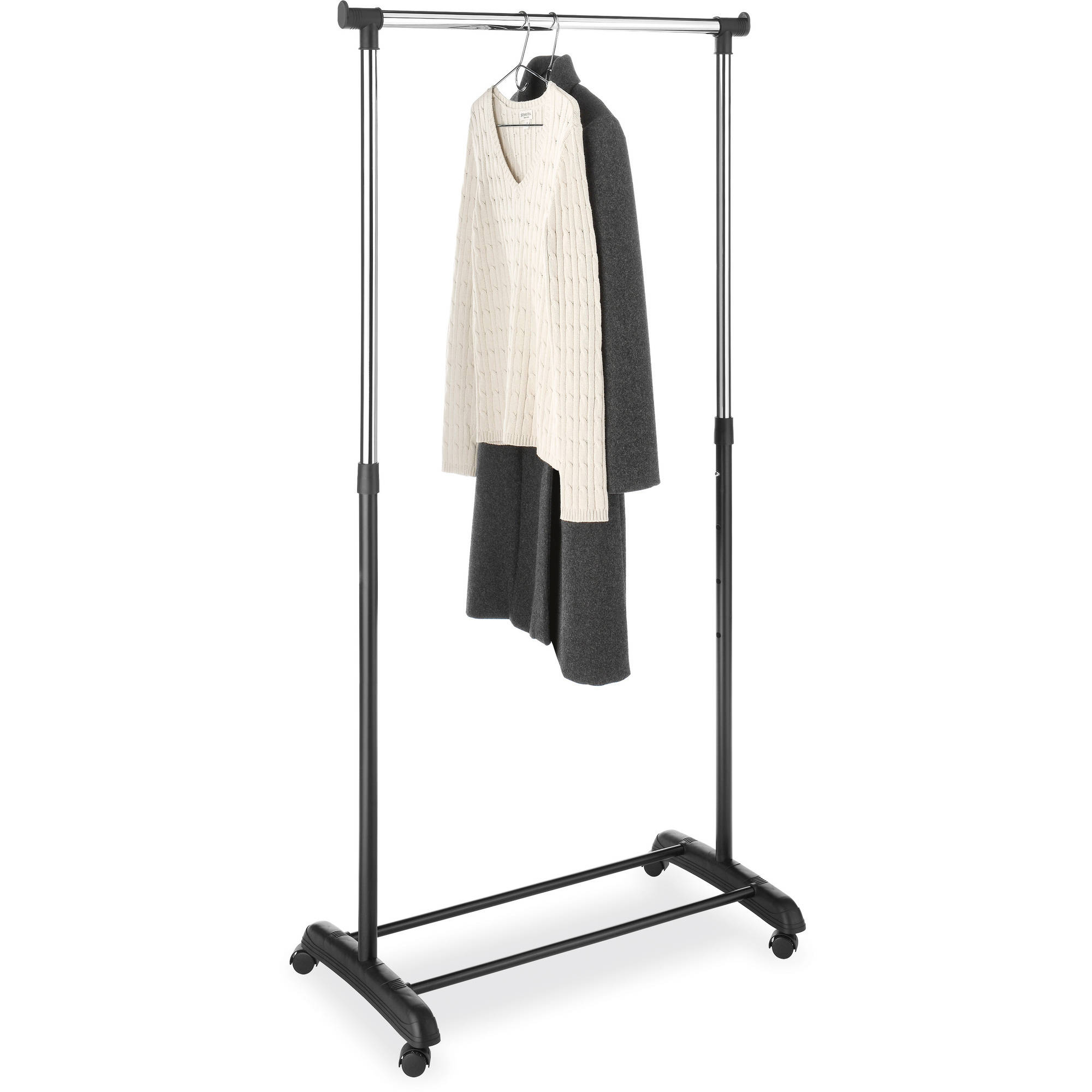 Beau Whitmor 6021 7276 Black U0026 Chrome Heavy Duty Expandable Garment Rack    Walmart.com