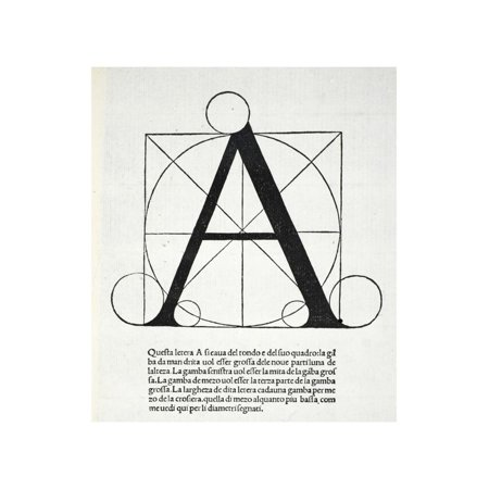 A, Illustration from 'Divina Proportione' by Luca Pacioli (C.1445-1517) Print Wall Art By Leonardo da Vinci