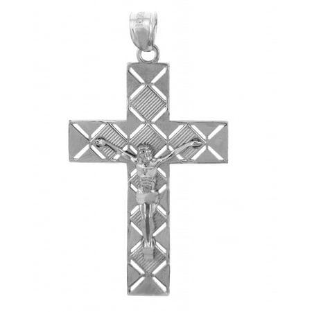 White gold crucifix pendant the power crucifix walmart white gold crucifix pendant the power crucifix aloadofball Image collections