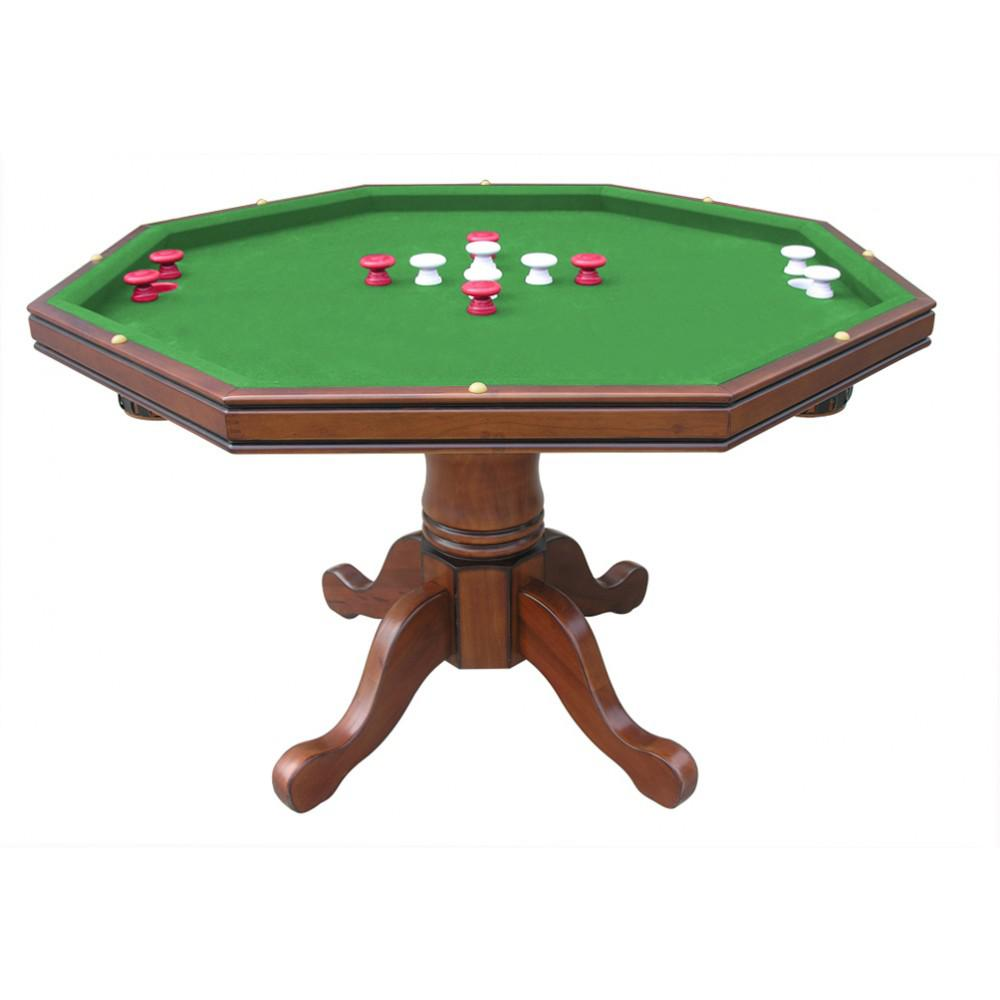 BlueWave Products POKER TABLES NG2366T Walnut Poker Table Only by