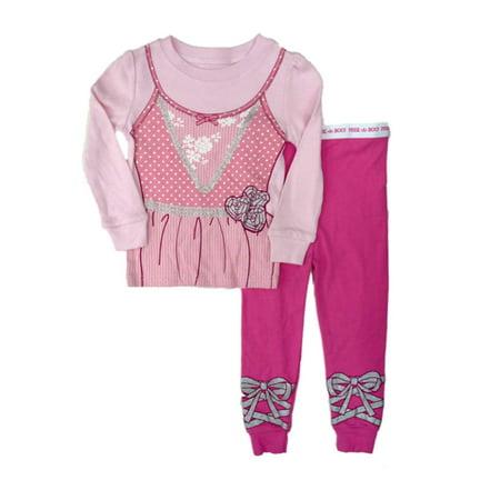 Infant Toddler Girl Pink Ballerina Halloween Sleep Set Sleepwear Pajamas PJs