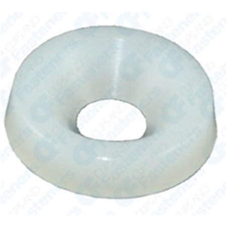 50 #8 Nylon Finishing Washers - Natural