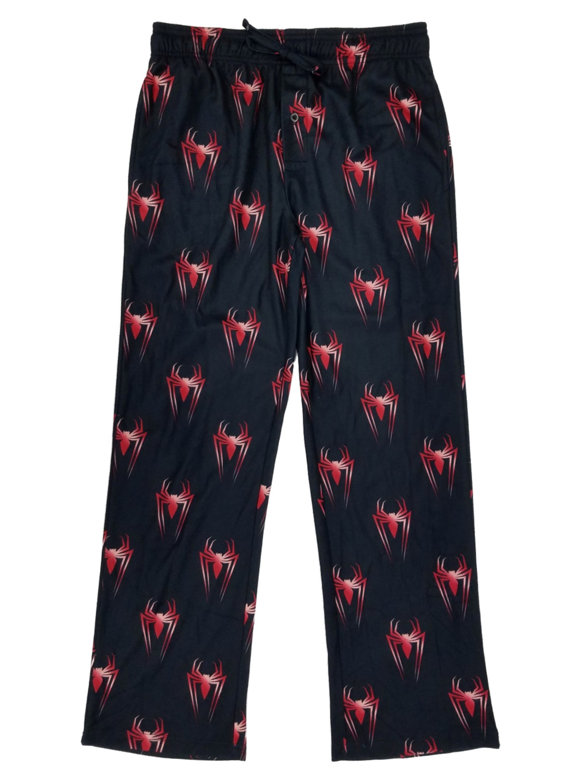 marvel comics spiderman modern flannel lounge pants