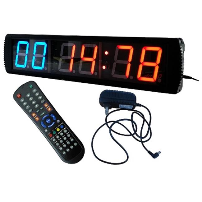 DLC IN2B4R 4 inch 6 Digits LED Interval Clock, Red