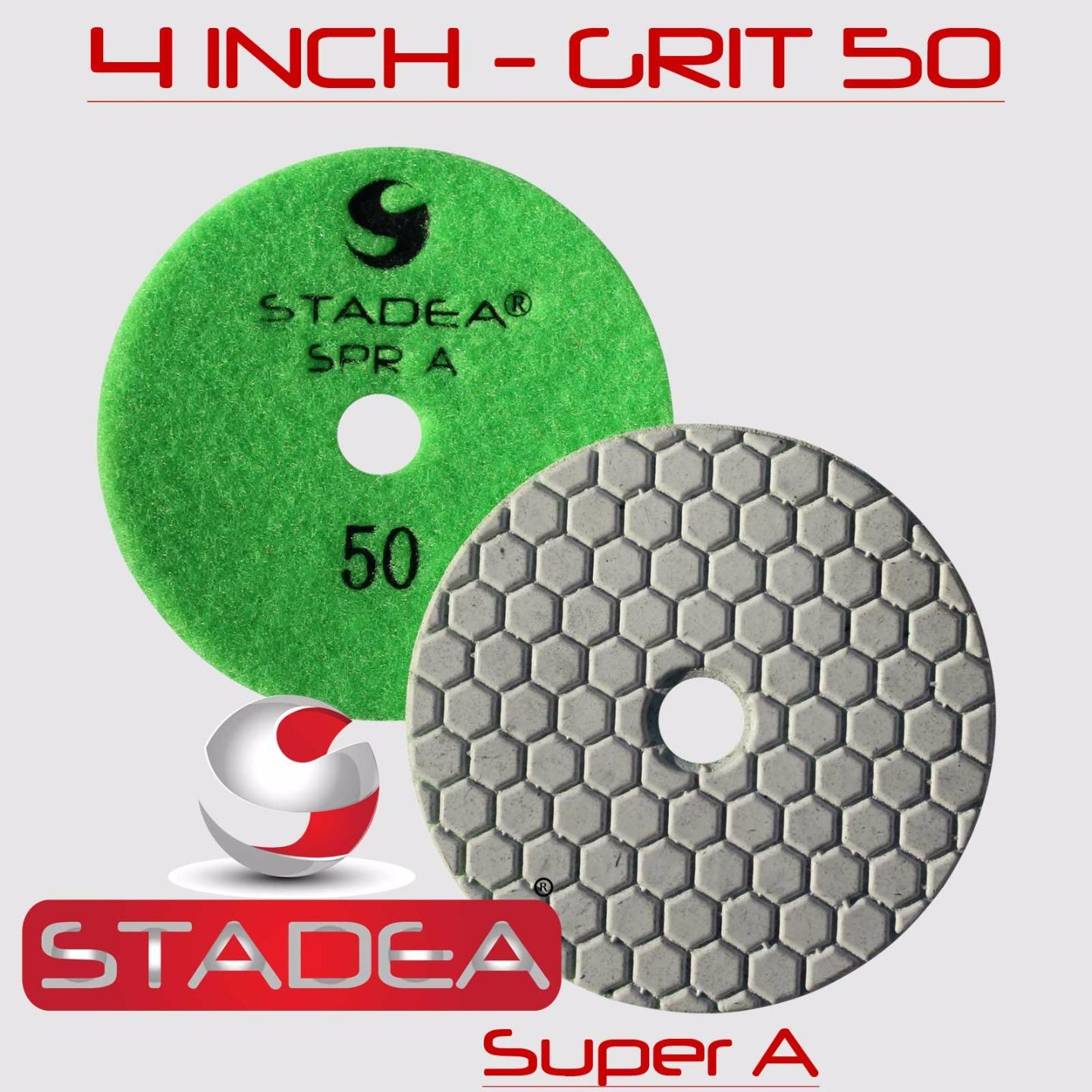 "STADEA 4/"" Diamond Polishing Pads Grit 400 Wet//Dry Pad"
