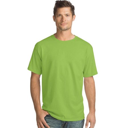 Hanes 078715366513 Men ComfortSoft Short-Sleeve Crewneck T-Shirt, Light Steel - Small, Pack of 4 - image 1 of 1