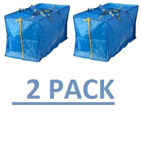Ikea Frakta Storage Bag,Extra Large   Blue (2 PACK) 3826.14205.1018