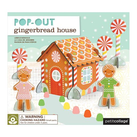 Pop-Out and Build, Gingerbread House Playset, Each set comes with 4 sturdy, easy to punch out sheets. Simply press out the play pieces and match the numbers to.., By Petit Collage