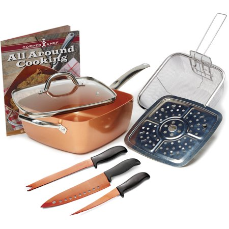 Copper Chef Cookware Set, 8 Piece 8 Piece Package Set
