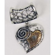 Scarf Accents-Two-Tone Metal Heart