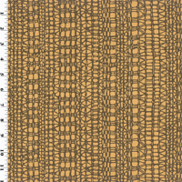 Brown Geometric Print Sateen Home Decorating Fabric, Fabric By the Yard