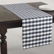 Saro Gingham Design Table Runner