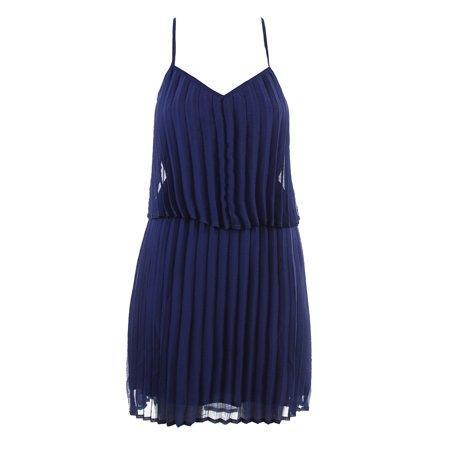 Bar Iii Tartan Blue Pleated Popover Dress - Tarzan Dress