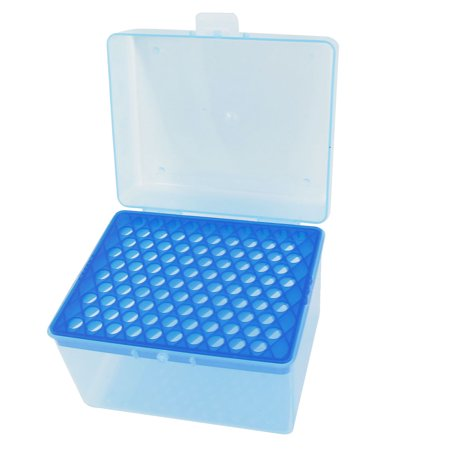 Unique Bargains Laboratory Lab Plastic 100 Positions 1mL Centrifuge Tube Stand Holder Box