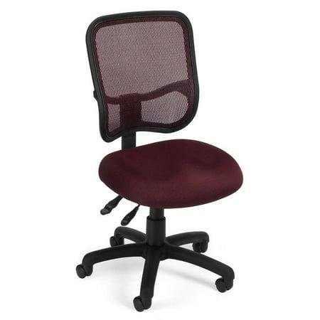 Scranton & Co Ergonomic Mesh Swivel Office Chair in Wine