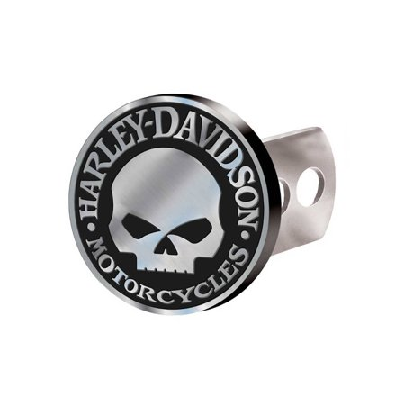 Harley-Davidson Hitch Cover, Willie G Skull Hitch Plug, Brushed Silver 2283, Harley Davidson (Harley Davidson Hitch Cover)