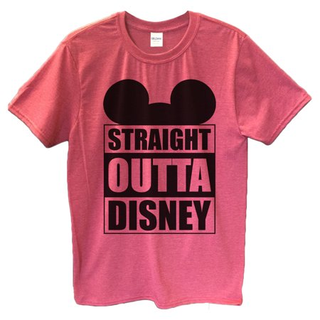 "009a3bd4 Funny Threadz - Funny Mens Mickey Mouse T-shirt ""Straight Outta Disney"" Funny  Disney T Shirt Gift For Dad 2X-Large, Heather Red - Walmart.com"