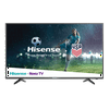 """Hisense 43  Class FHD (1080P) Roku Smart LED TV 5,000+ streaming channels and built-in Wi-Fi. Need I say more? Binge-watching content with your family and friends will become your favorite pastime once you own athis series FullHD Hisense Roku TV. With over *5,000+ streaming channels and 500,000 movies and TV episodes to choose from, everyone in your household will have something to watch. Other features of the Hisense 43"""" Class FHD (1080P) Roku Smart LED TV include Motion Rate processing technology that minimizes lag or shaking in fast-action scenes, Game Mode to process fast-paced games with less input lag, and Wi-Fi. The easy set up and simple **search makes it hard NOT to love this series of the Hisense Roku TV. Connect to the Internet, activate, and start streaming."""