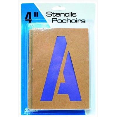 """STENCIL PAINT & LETTERING GOTHIC 4""""CAPITALS & NUMERALS - image 1 de 1"""