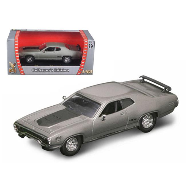 1 by 43 1971 Plymouth GTX 440 Diecast Model Car, Silver - Pack of 6 - image 1 of 1