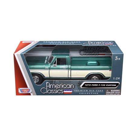 - 1979 Ford F-150 Pickup Truck 2 Tone Green/Cream 1/24 Diecast Model Car by Motormax