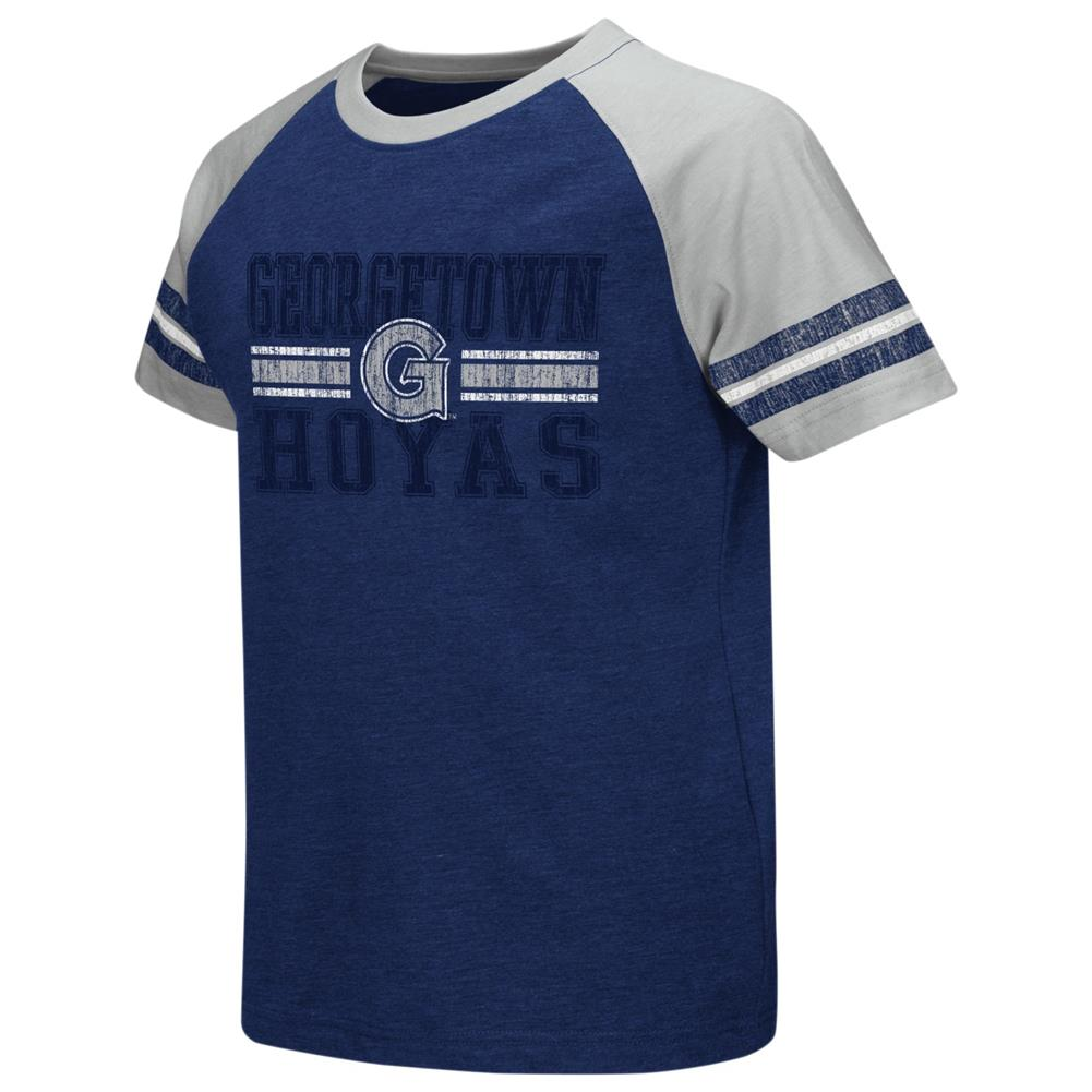 Georgetown University Hoyas Youth Houseman Raglan Short Sleeve Tee