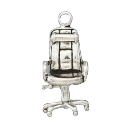 Surprising Sterling Silver 7 4 5Mm Charm Bracelet With Attached 3D Plush Desk Office Rolling Chair Charm Cjindustries Chair Design For Home Cjindustriesco