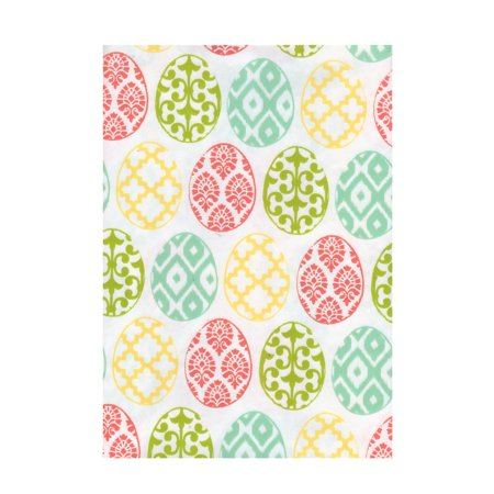 Decorated Easter Eggs Peva Vinyl Tablecloth Flannel Backed