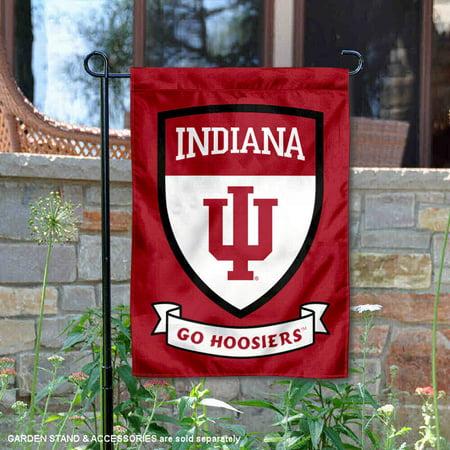 IU Hoosiers Go Hoosiers Shield Garden - Iu Banners