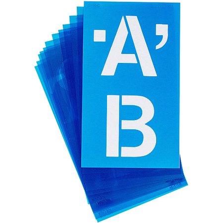 Alphabet Stencils  100 Pack  Helvetica Capital Letters  4
