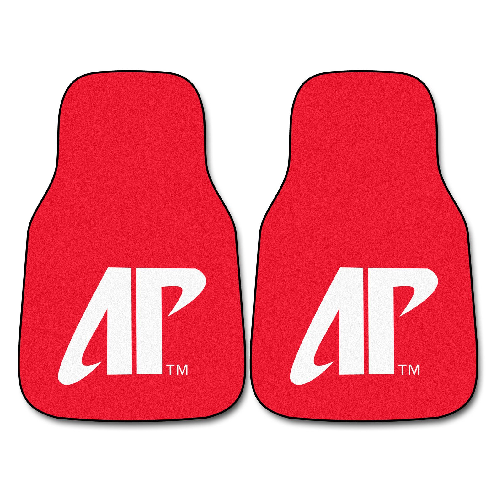 Vehicle Floor Mats w Official Austin Peay Logo - Set Of Two Front Mats