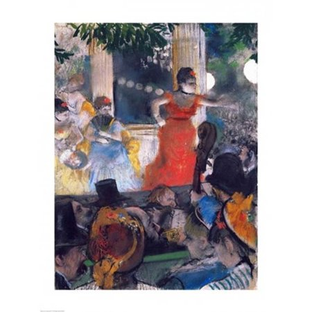 Posterazzi BALXIR20066LARGE Cafe Concert at Les Ambassadeurs Poster Print by Edgar Degas - 24 x 36 in. - Large - image 1 of 1