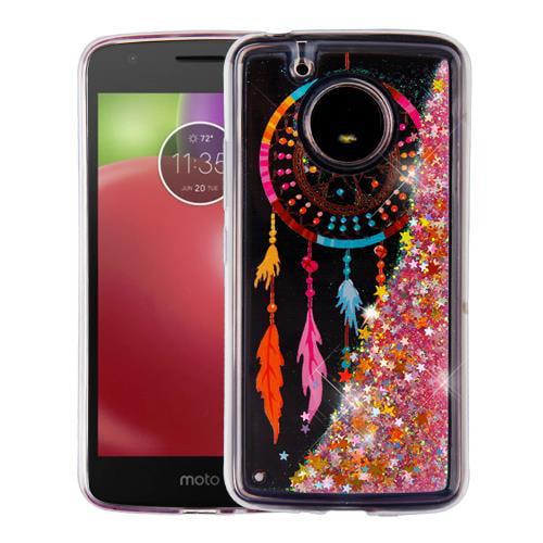 For Motorola Moto E4 Case / Moto E 4 Case Hybrid Quicksand Liquid Glitter TPU (Dreamcatcher & Gold Quicksand (Stars) Glitter)