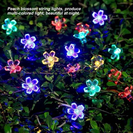 Sakura Christmas Party.Ymiko 9 5m Solar Powered 50 Led Peach Blossom String Lights Christmas Party Decor Lamp Sakura String Lights Peach Blossom Solar Lights