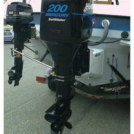 EZ-Steer Outboard to Outboard Auxiliary Motor Steering Kit (Includes Complete Bracket Assembly, Main Bracket Body, Quick Disconnect, S/S Bands and Rod Assembly)