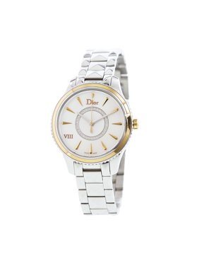 Dior Women's Montaigne CD1521I0M001 Silver Stainless-Steel Quartz Dress Watch