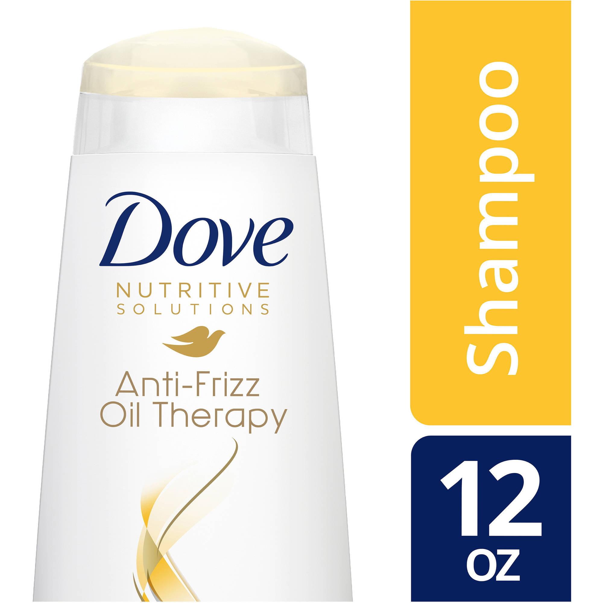 Dove Anti-Frizz Oil Therapy Shampoo, 12 oz