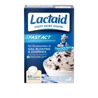 Lactaid Fast Act Lactose Relief Chewables, Vanilla, 60 Packs of 1-ct.