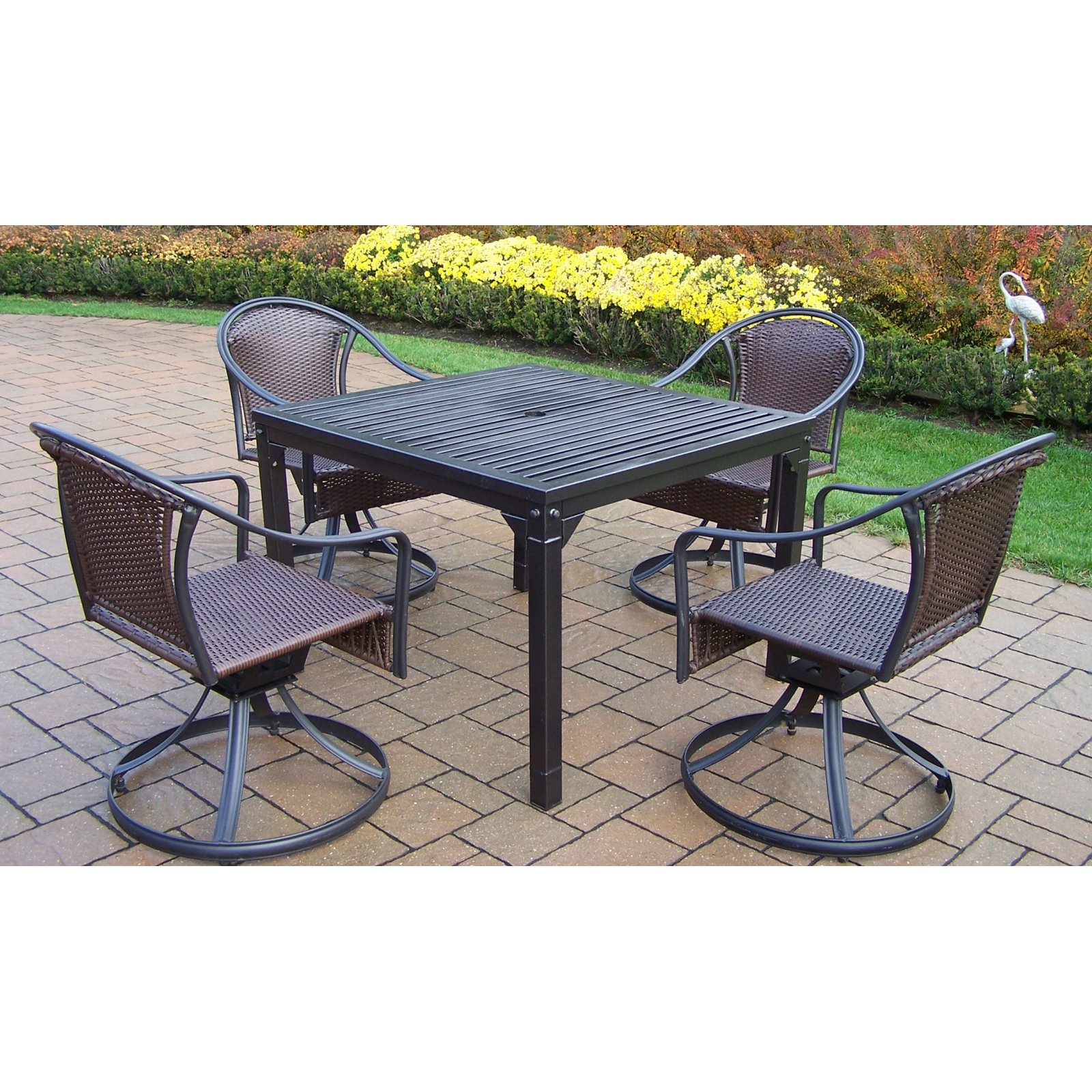 Oakland Living Rochester Tuscany 40 x 40 in. Swivel Patio Dining Set