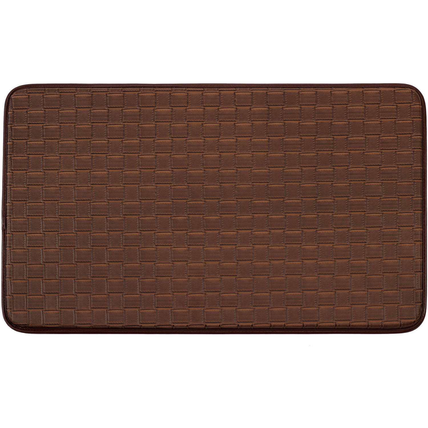 "Chef Gear Faux-Leather Basket Weave 24"" x 36"" Comfort Chef Mat"