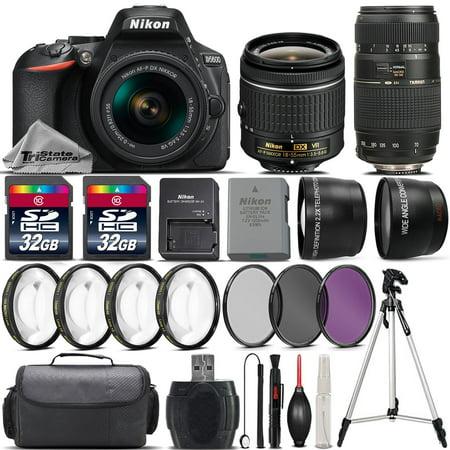Nikon D5600 DSLR Camera with 18-55mm VR Lens + 70-300 Lens + 64GB Bundle Kit