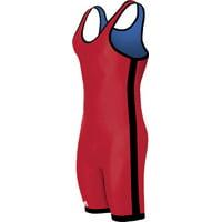 Adidas aS103r Men's Wrestling 1-Stripe Reversible Singlet